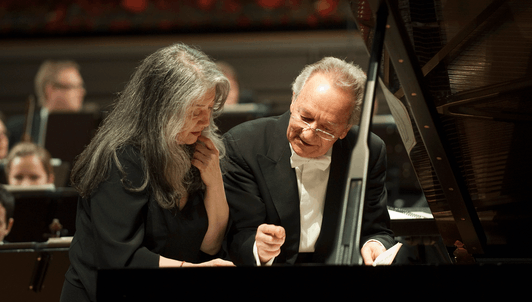 Martha Argerich and Yuri Temirkanov perform Ravel's Piano Concerto in G Major