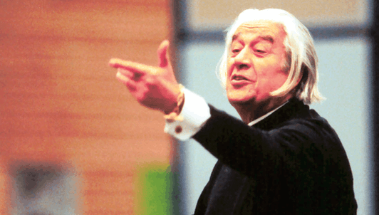 Sergiu Celibidache rehearses the Adagio of Bruckner's 9th Symphony