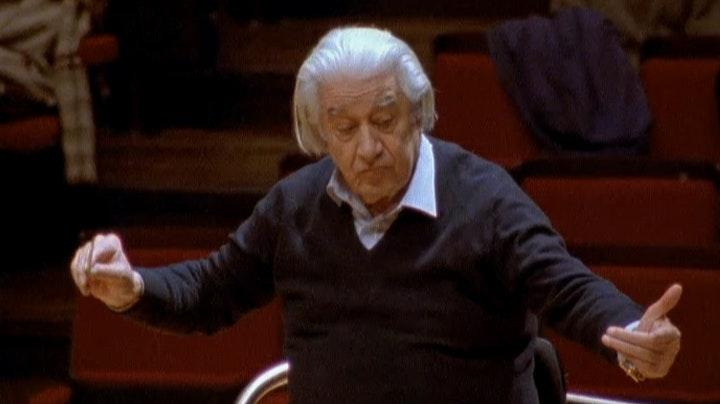 Sergiu Celibidache rehearses the Adagio of Bruckner's 9th Symphony