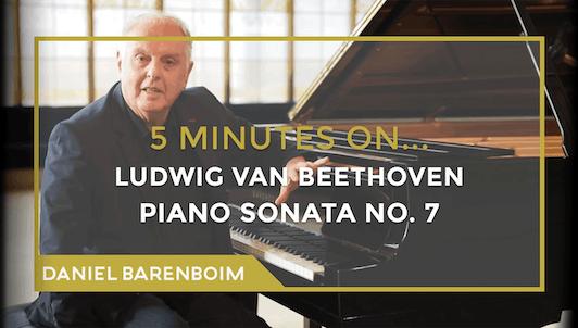 Daniel Barenboim, la Sonate pour piano n°7 de Beethoven