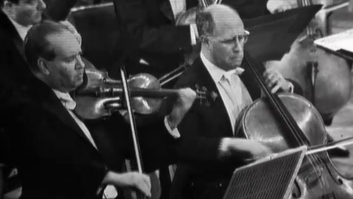 David Oistrakh and Mstislav Rostropovich play Brahms: Double Concerto, Violin Concerto