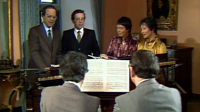 Edith Mathis, Brigitte Fassbaender, Peter Schreier and Barry McDaniel sing Brahms' Liebeslieder Waltzes