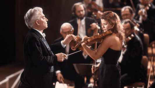 Herbert von Karajan and Anne-Sophie Mutter perform Beethoven's Violin Concerto