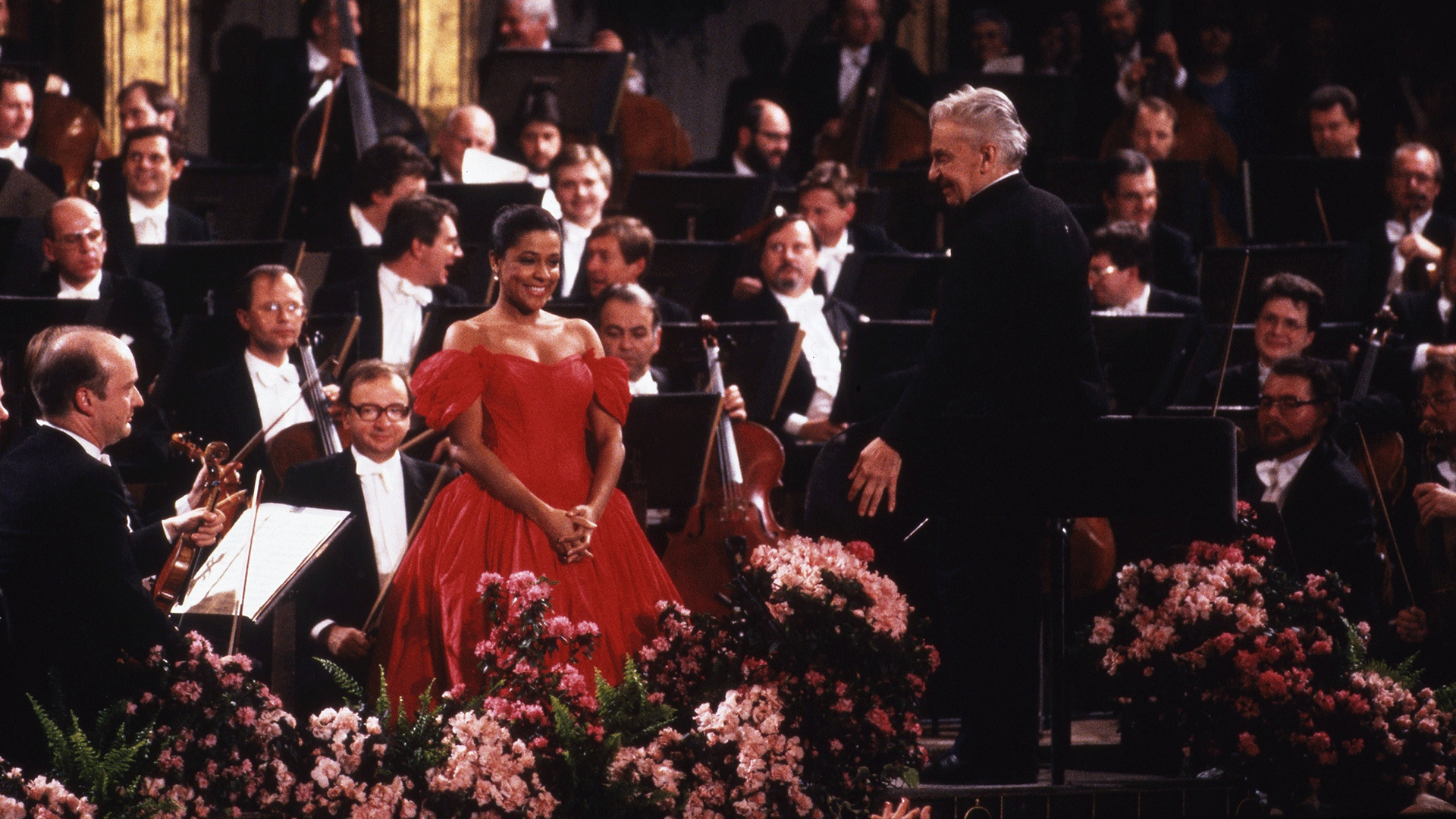 Herbert von Karajan conducts concert program dedicated to the Strauss musical dynasty – With Kathleen Battle