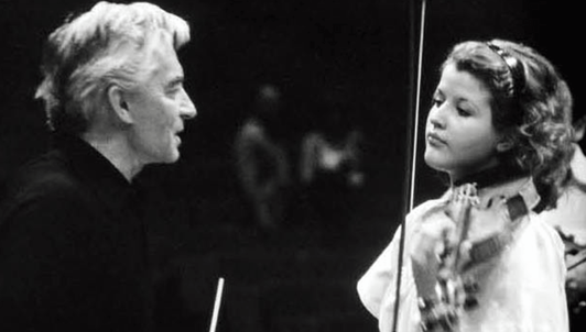 Herbert von Karajan and Anne-Sophie Mutter perform Vivaldi's Four Seasons