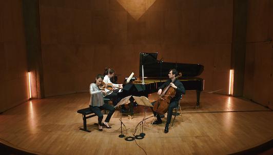 Liya Petrova, Aurélien Pascal, Alexandre Kantorow, Nicolas Baldeyrou, Bruno Philippe, Tanguy de Williencourt, and Grégoire Vecchioni perform Brahms