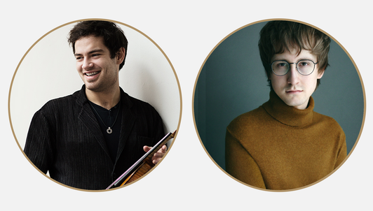 Marc Bouchkov and Dmitry Masleev play Schubert, Brahms, and Shostakovich