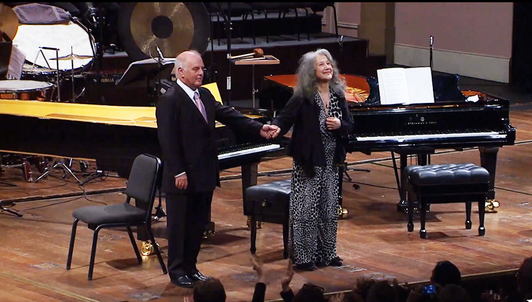 Martha Argerich and Daniel Barenboim perform Schumann, Debussy, and Bartók