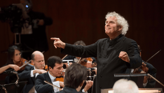 "Sir Simon Rattle conducts Mozart and Haydn's ""Une Symphonie imaginaire"" (a pasticcio by Sir Simon Rattle) – With Daishin Kashimoto and Amihai Grosz"