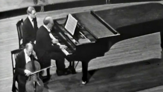 Mstislav Rostropovich and Sviatoslav Richter play Beethoven's Cello Sonatas No. 1 and No. 2