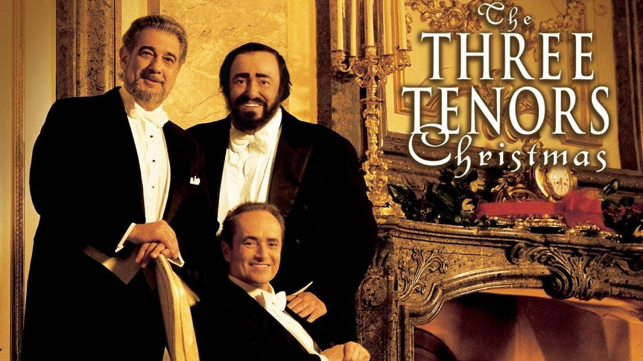 The Three Tenors Luciano Pavarotti, Plácido Domingo, and José Carreras sing Christmas Music