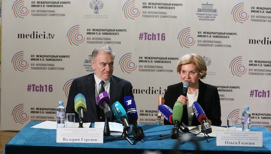 The Press Conference of the Tchaikovsky Competition – With Valery Gergiev and Olga Golodets