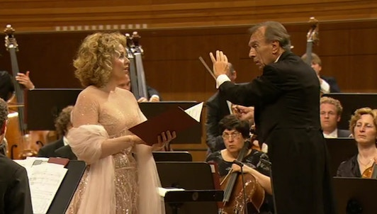 Claudio Abbado conducts Berg, Schubert, and Mahler — With Renée Fleming