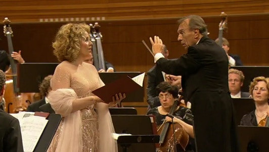 Renee Fleming and Claudio Abbado perform Berg, Schubert and Mahler
