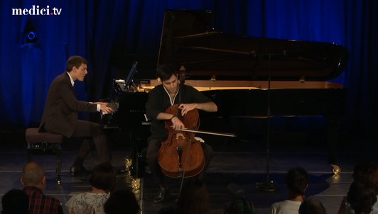 Kian Soltani and Aaron Pilsan play Bach, Brahms, Larcher, Vali, and Piazzolla