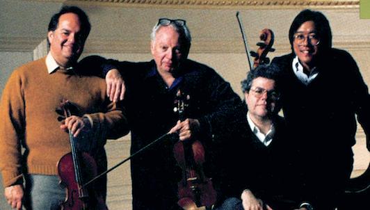 Isaac Stern, Jaime Laredo, Yo-Yo Ma et Emanuel Ax répètent et jouent les Quatuors avec piano n°1 et n°2 de Brahms