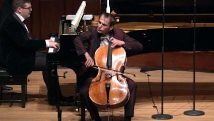 Christoph Croisé and Alexander Panfilov perform Rachmaninov, Shostakovich, Tchaikovsky, Demenga, and Schnyder