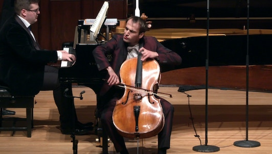 Christoph Croisé and Alexander Panfilov perform Rachmaninov, Shostakovich, Tchaikovsky, Demenga, and Schnyder