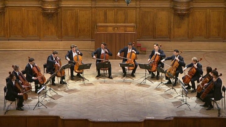 The 12 Cellists of the Berlin Philharmonic Orchestra in Moscow