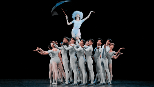 En sol In the Night y The Concert de Jerome Robbins; y Triade de Benjamin Millepied